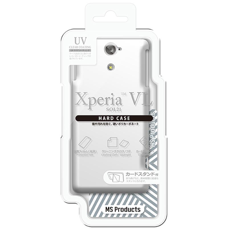 Xperia(TM) VL SOL21 ハードケース(光沢) ホワイト
