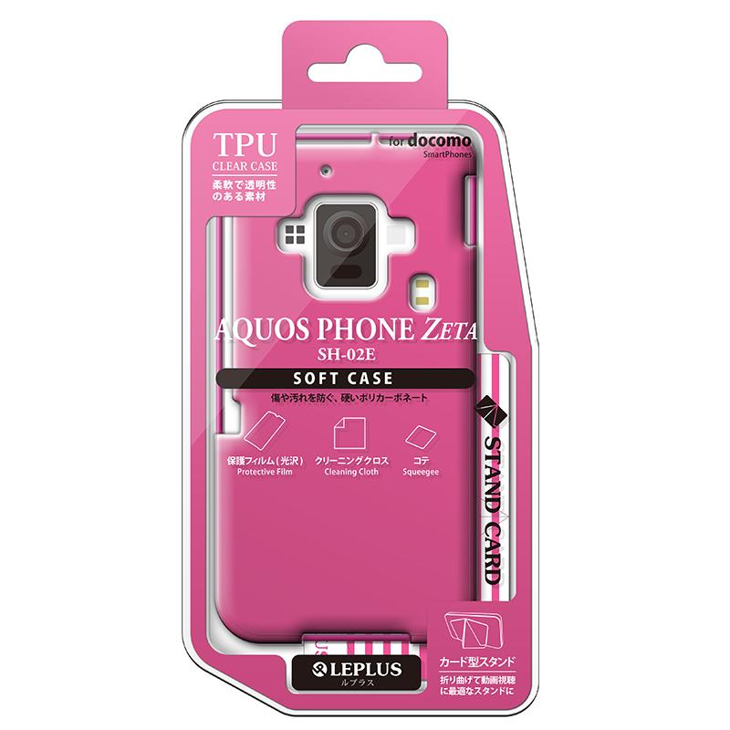 AQUOS PHONE ZETA SH-02E TPUケース(ノーマル) ピンク