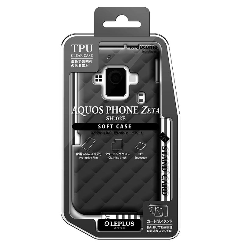 AQUOS PHONE ZETA SH-02E TPUケース(ダイヤ) スモーク