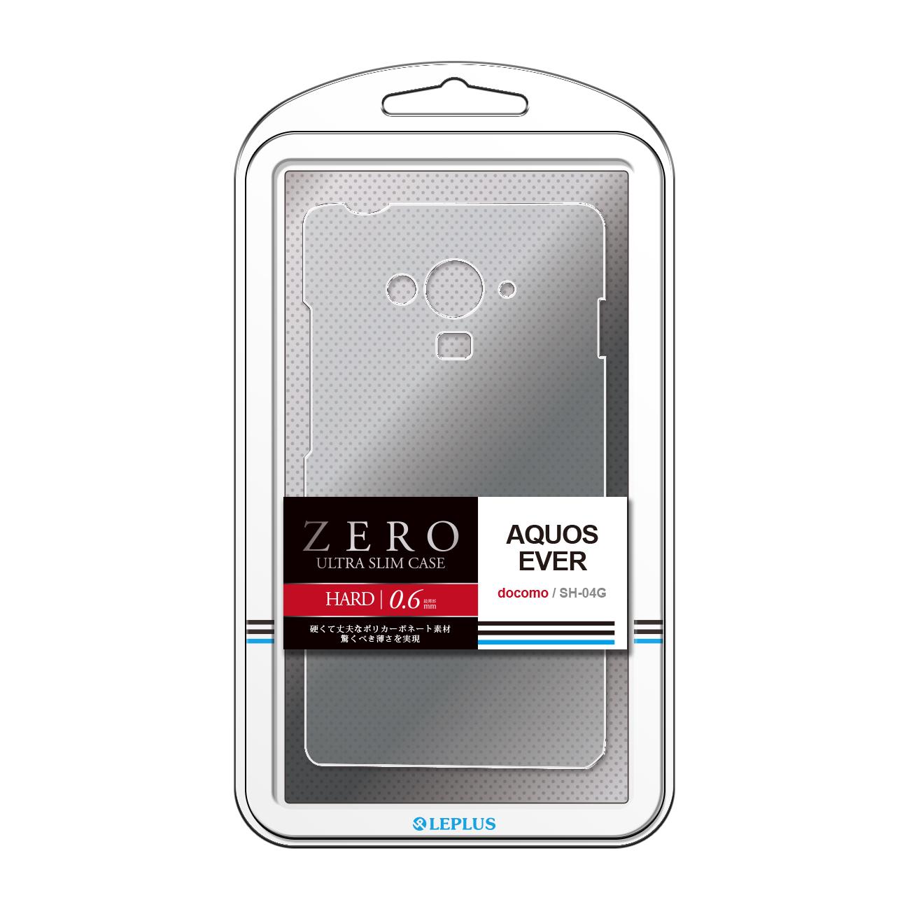 AQUOS EVER SH-04G 超極薄ハードケース「ZERO HARD」 クリア