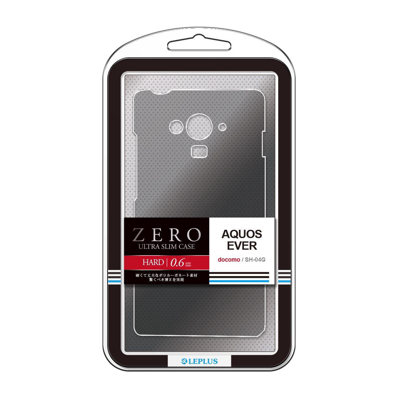 AQUOS EVER SH-04G 超極薄ハードケース「ZERO HARD」 クリアブラック