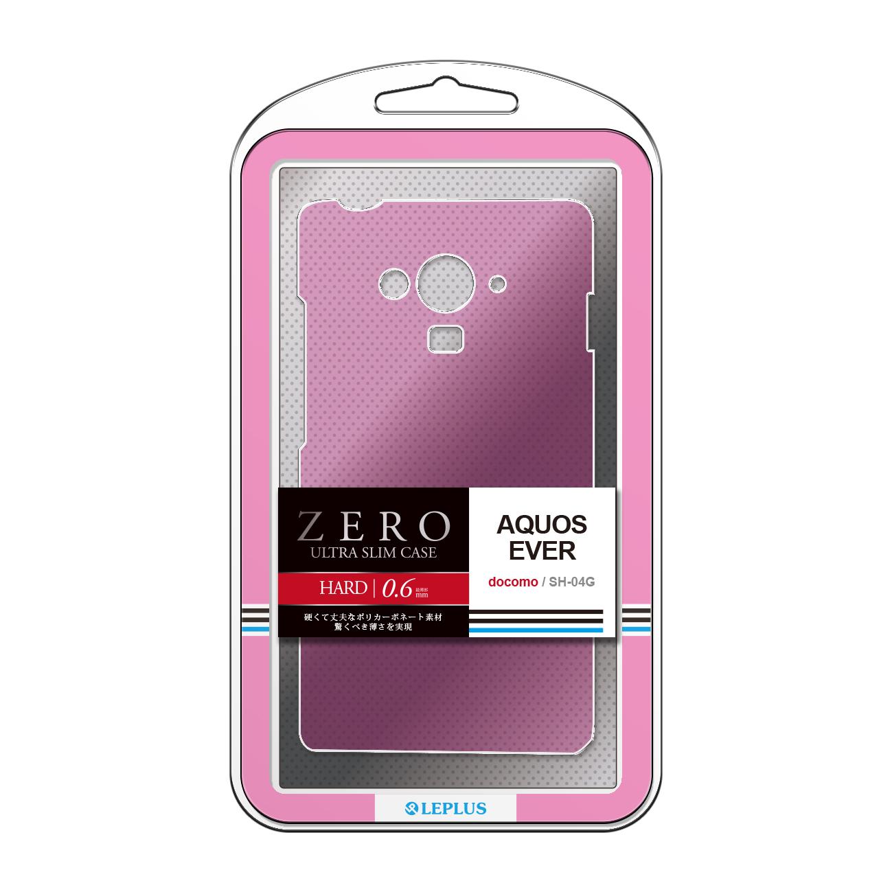 AQUOS EVER SH-04G 超極薄ハードケース「ZERO HARD」 クリアピンク