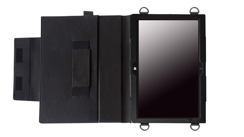 ARROWS Tab Q704/H 首掛け合成皮革ケース ブラック