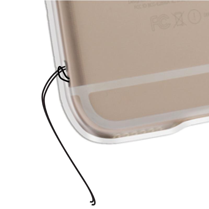 ストラップホール付きiPhone6/6s TPUケース