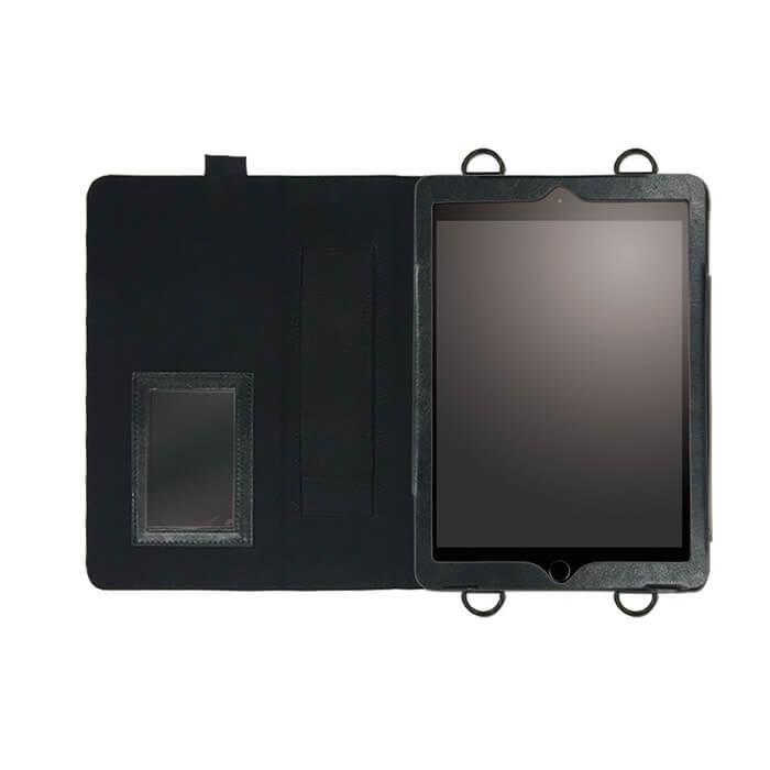 iPad Pro 9.7 inch/iPad Air2 首掛け合成皮革ケース ブラック