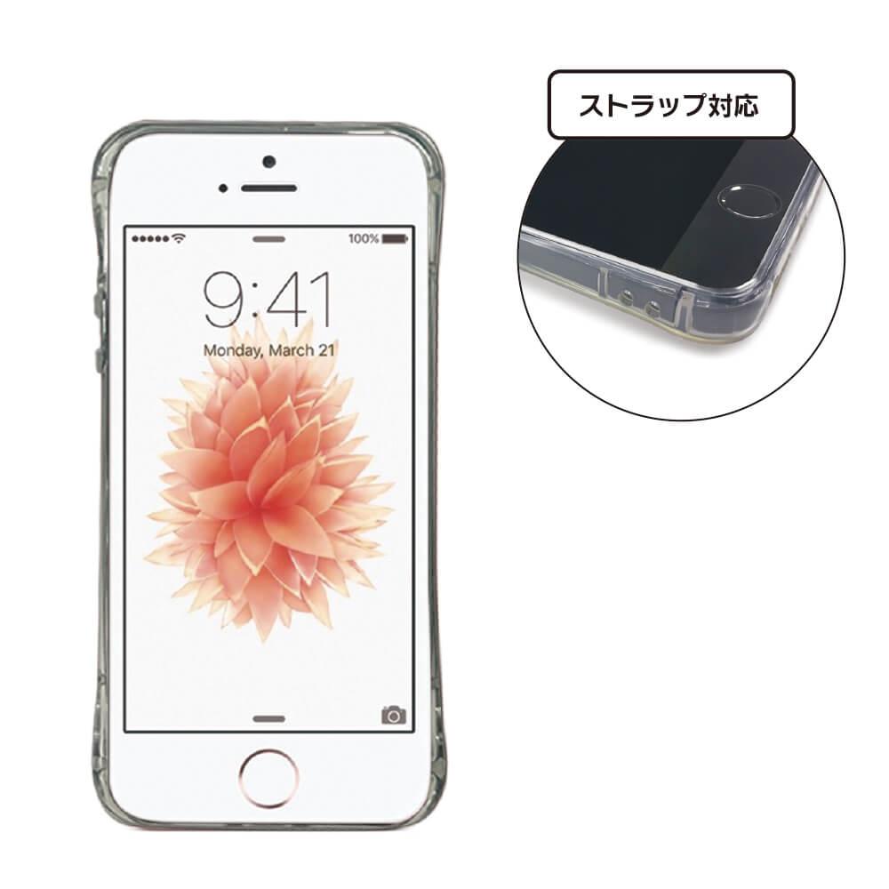 iPhone SE/5s/5 ストラップホール付き TPUケース クリア
