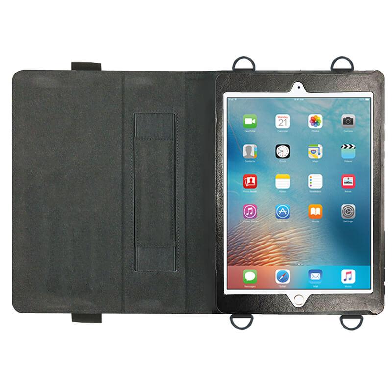 iPad Air/iPad Air2/iPad Pro 9.7inch/iPad 2017 9.7inch/iPad 2018 9.7inch 首掛け合成皮革ケース ブラック