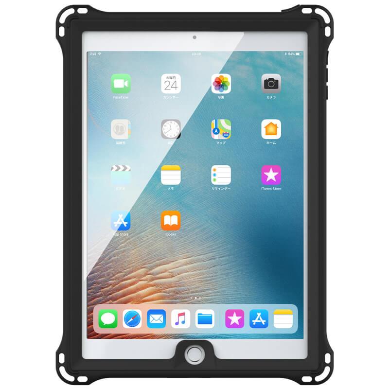 iPad Air/iPad Air2/iPad Pro 9.7inch/iPad 2017 9.7inch/iPad 2018 9.7inch 防水・防塵・耐衝撃ケース ブラック