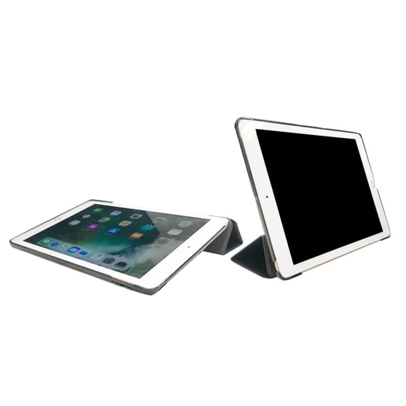 iPad 2017 9.7inch/iPad 2018 9.7inch 背面クリアフラップケース ブラック