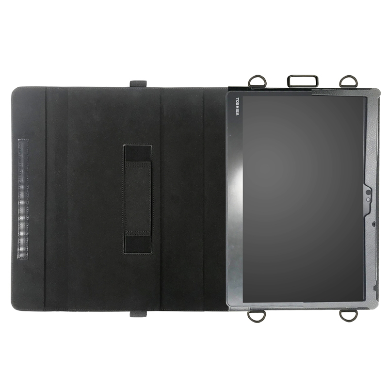 dynabook D83 首掛け合成皮革ケース ブラック