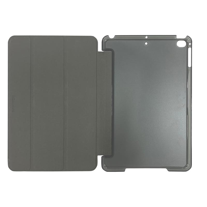 iPad mini 2019/iPad mini 4 背面クリアフラップケース ブラック