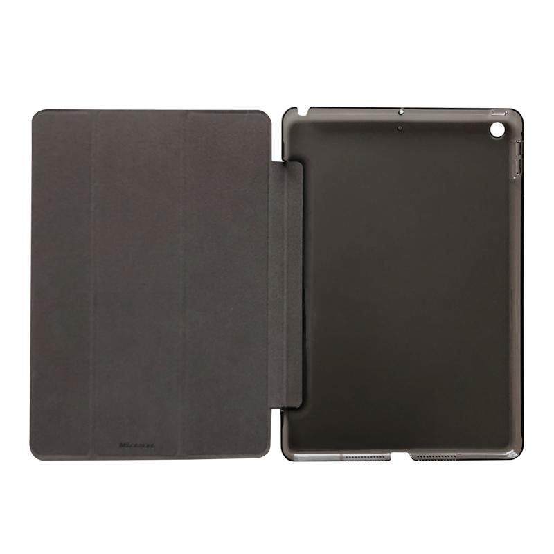 iPad 2019 10.2inch 背面クリアフラップケース ブラック