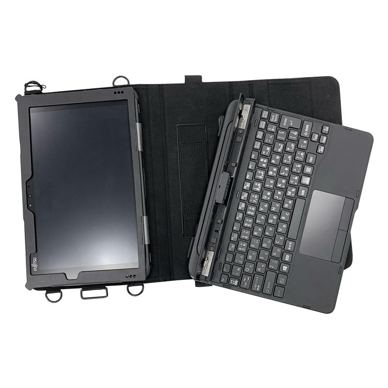 ARROWS Tab Q5011 / ARROWS Tab Q5010 合成皮革ケース ブラック