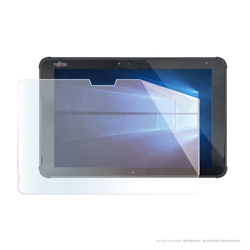 ARROWS Tab Q5011 / ARROWS Tab Q5010 フッ素配合抗菌 ブルーライトカット保護フィルム マット