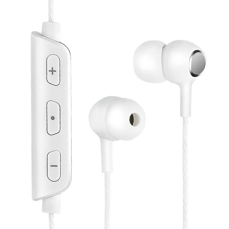 ワイヤレスイヤフォン(ボリューム/マイク付)「極の音域 ワイヤレスイヤフォン FIT」  ホワイト