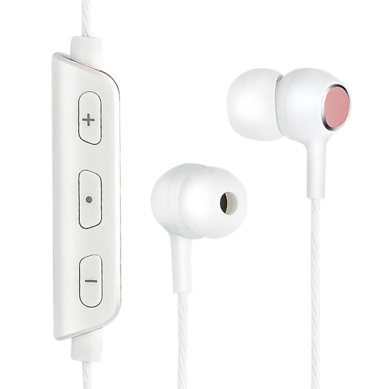 ワイヤレスイヤフォン(ボリューム/マイク付)「極の音域 ワイヤレスイヤフォン FIT」  ピンク
