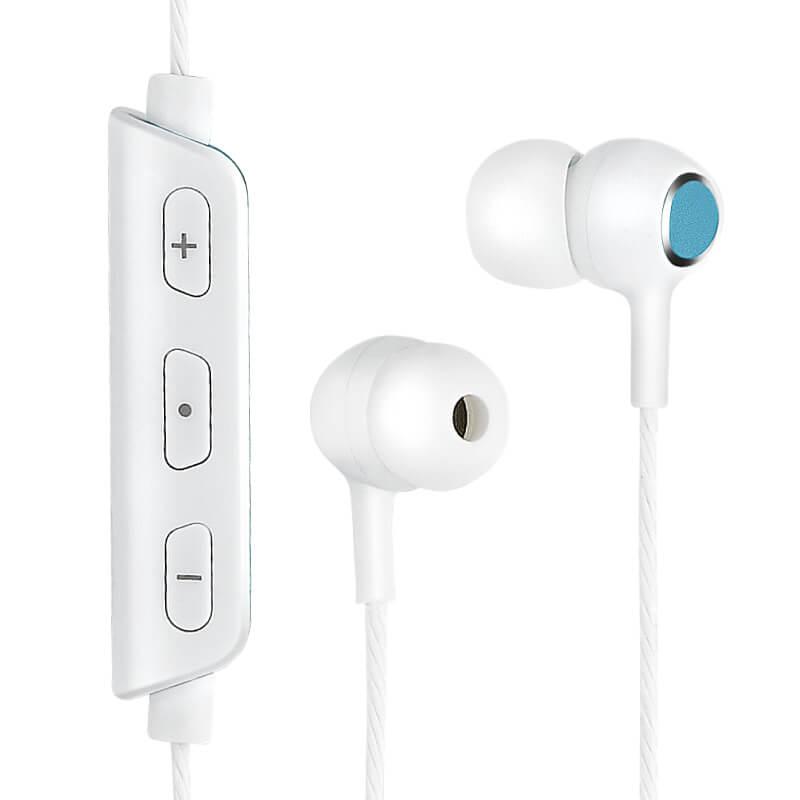 ワイヤレスイヤフォン(ボリューム/マイク付)「極の音域 ワイヤレスイヤフォン FIT」  ブルー
