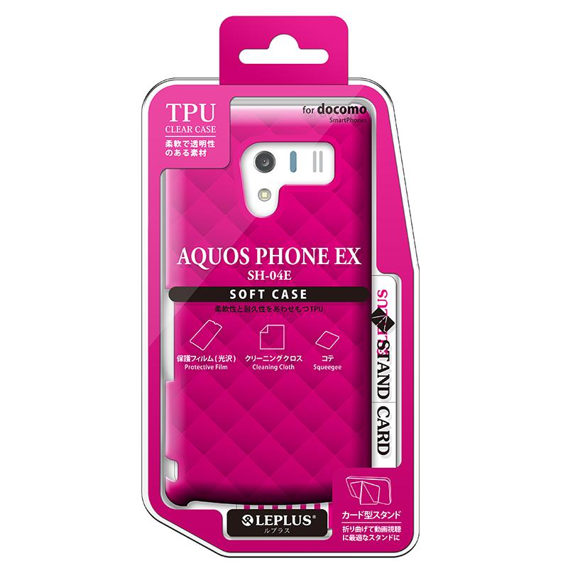 AQUOS PHONE EX SH-04E TPUケース(ダイヤ) ピンク