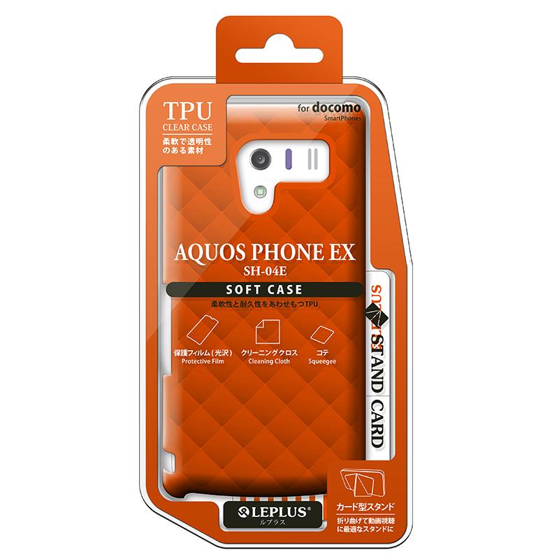 AQUOS PHONE EX SH-04E TPUケース(ダイヤ) オレンジ