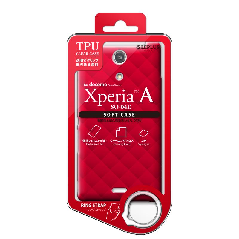 Xperia(TM) A SO-04E TPUケース(ダイヤ) レッド