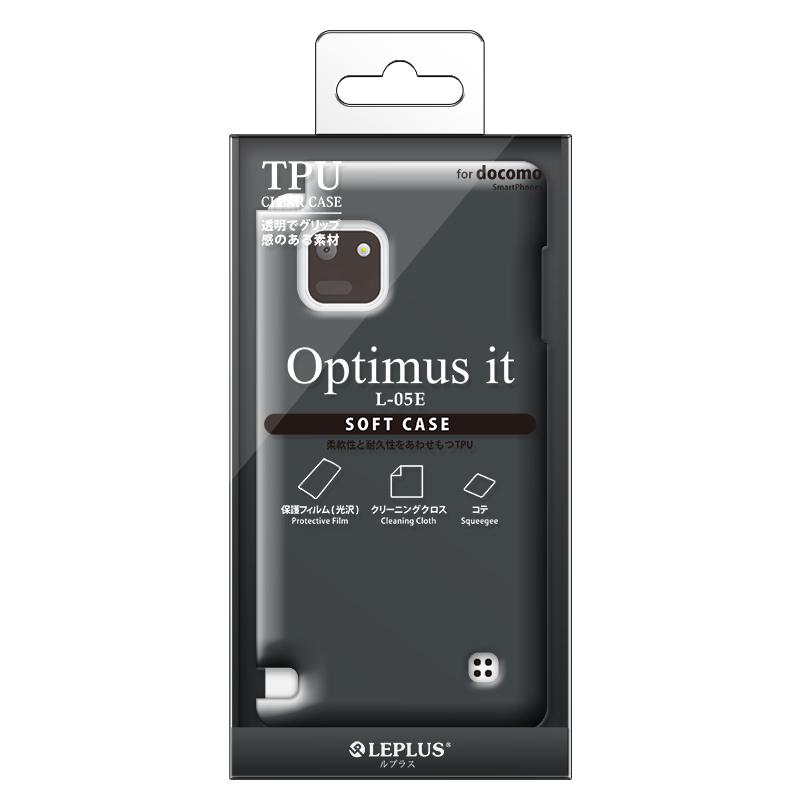 Optimus it L-05E TPUケース(ノーマル)スモーク