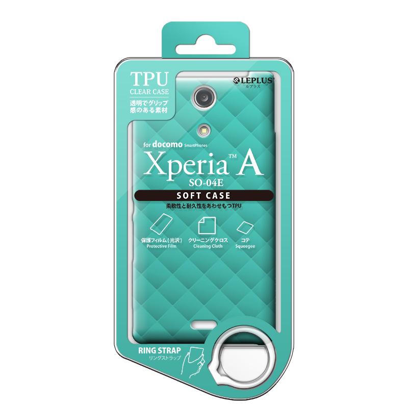 Xperia(TM) A SO-04E TPUケース(ダイヤ) ミントブルー