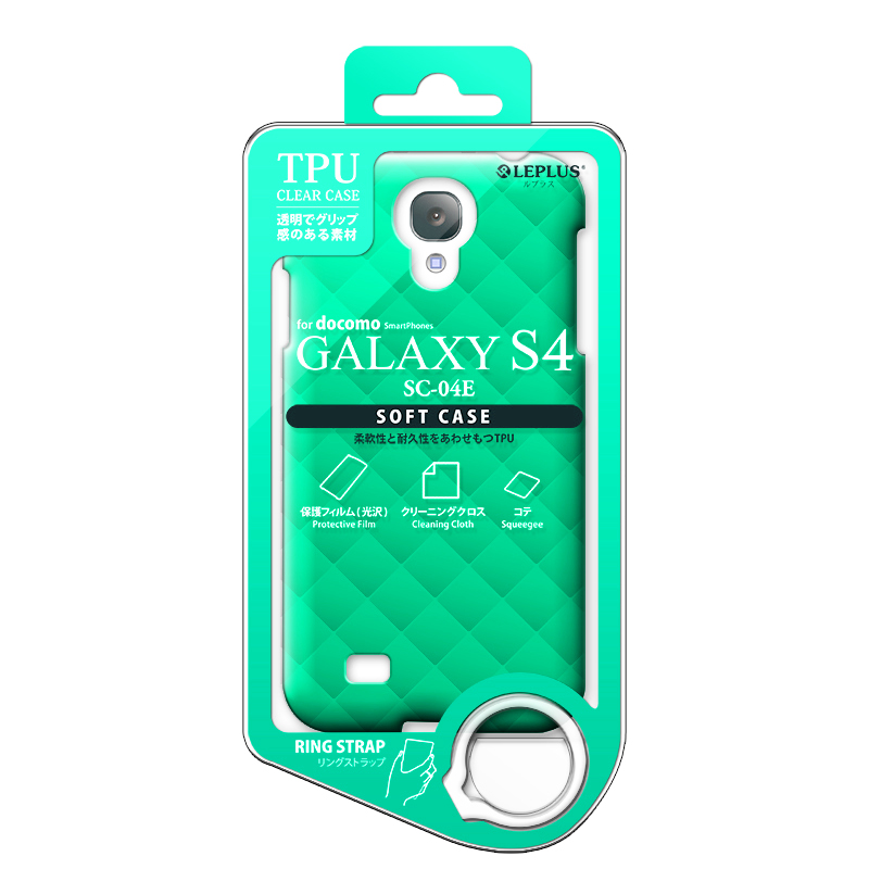 GALAXY S4 SC-04E TPUケース(ダイヤ) ミントブルー