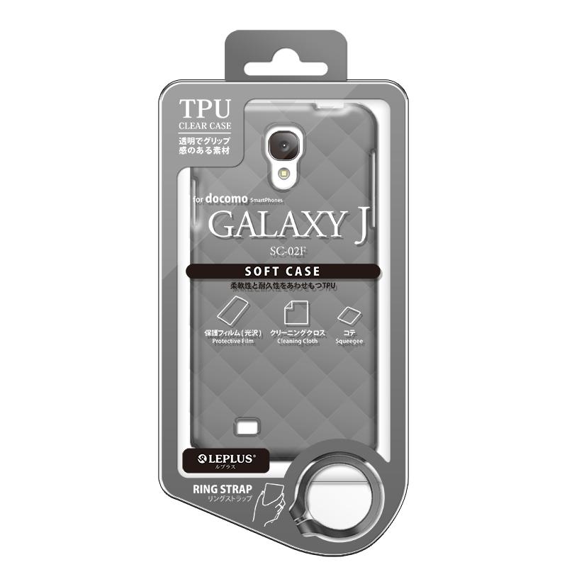 GALAXY J SC-02F TPUケース(ダイヤ) スモーク