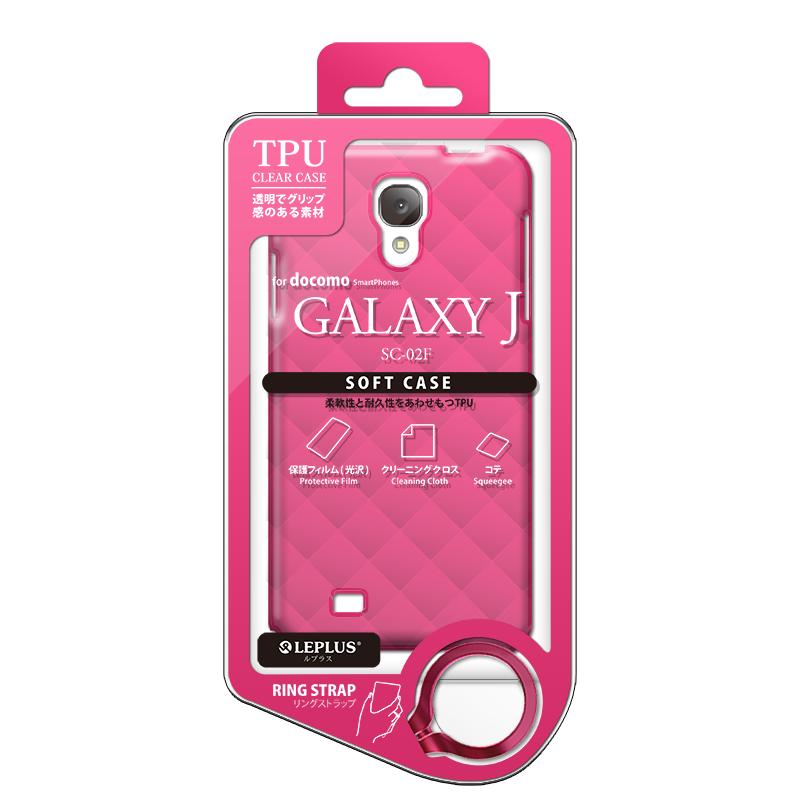 GALAXY J SC-02F TPUケース(ダイヤ) ピンク
