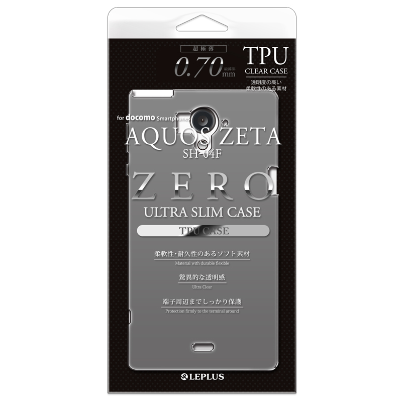 AQUOS ZETA SH-04F 超極薄TPUケース スモーク