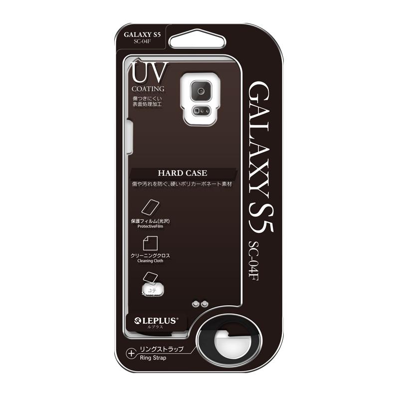 Galaxy S5 SC-04F/SCL23 ハードケース(光沢) ブラック
