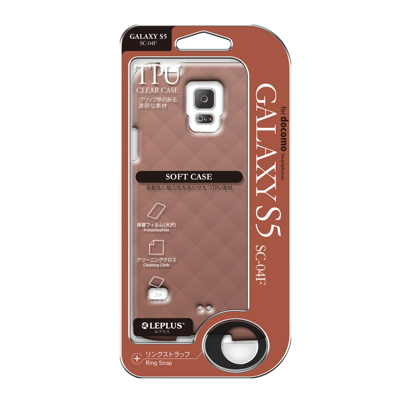 Galaxy S5 SC-04F/SCL23 TPUケース(ダイヤ) ブラウン