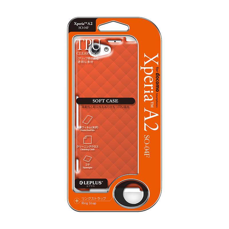 Xperia(TM) A2 SO-04F TPUケース(ダイヤ) オレンジ