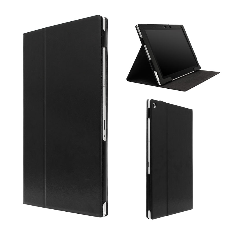 Xperia(TM) Z2 Tablet レザー(合皮)ケース ブラック