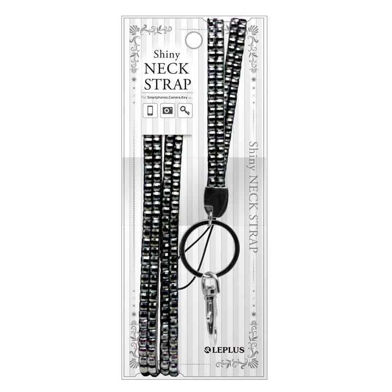ネックストラップ「Shiny Neck Strap」ブラック