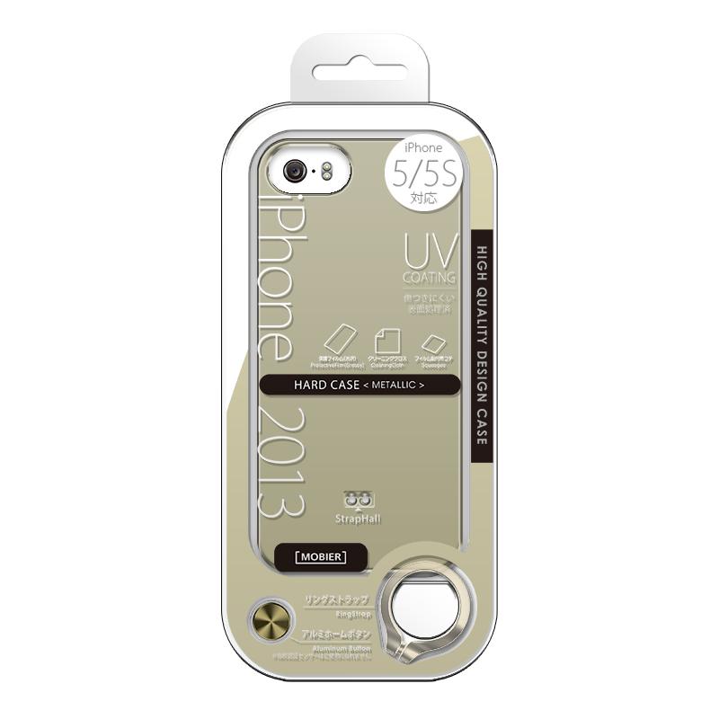 iPhone 5/5S ハードケース(メタリック) ゴールド