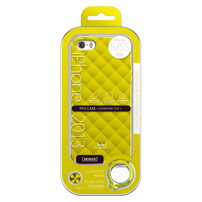 iPhone 5/5S TPUケース(ダイヤ) イエロー