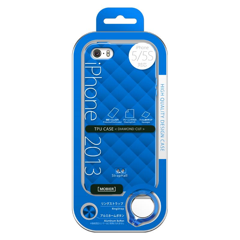 iPhone 5/5S TPUケース(ダイヤ) ブルー
