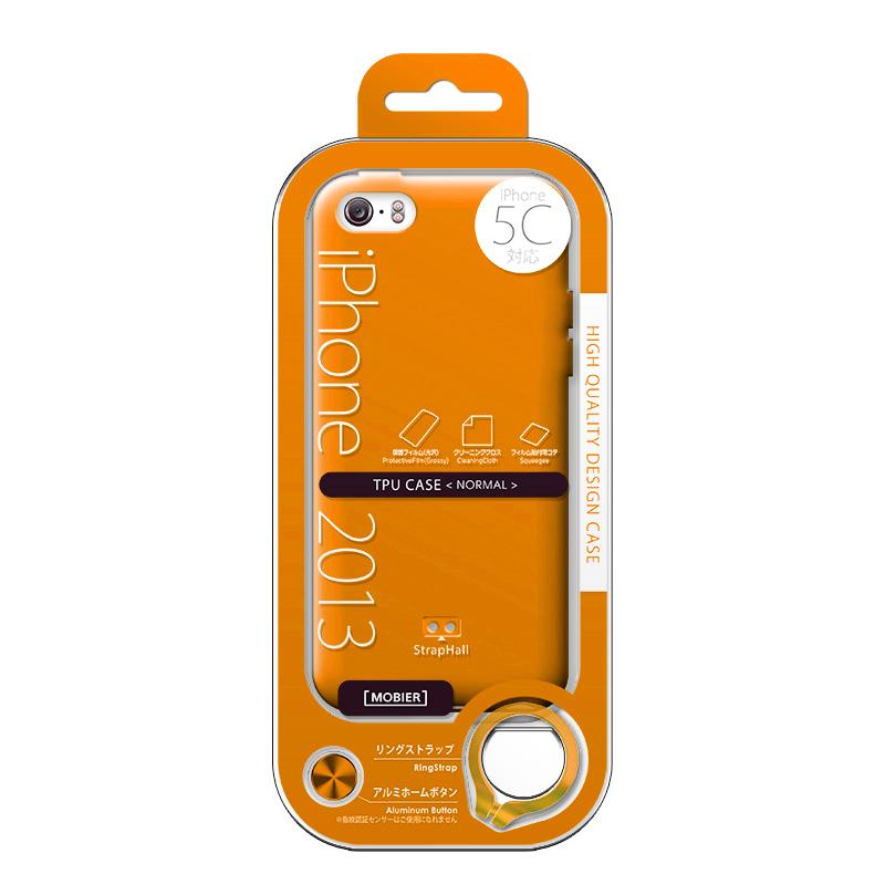 iPhone 5C TPUケース(ノーマル) オレンジ
