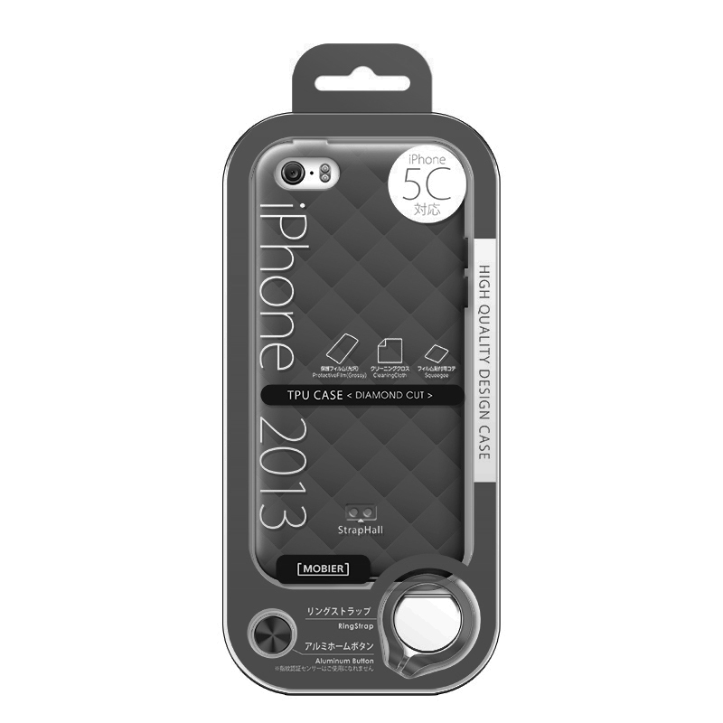 iPhone 5C TPUケース(ダイヤ) スモーク