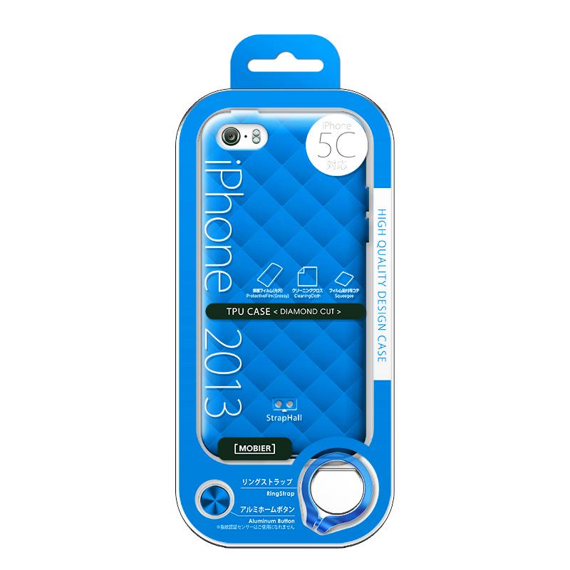 iPhone 5C TPUケース(ダイヤ) ブルー