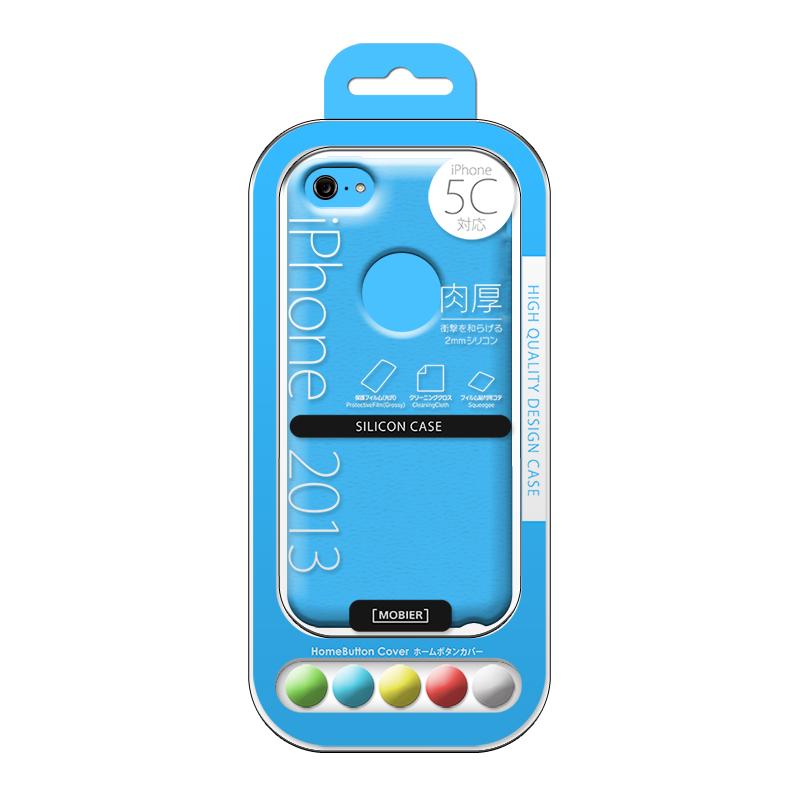 iPhone 5C シリコンケース ブルー