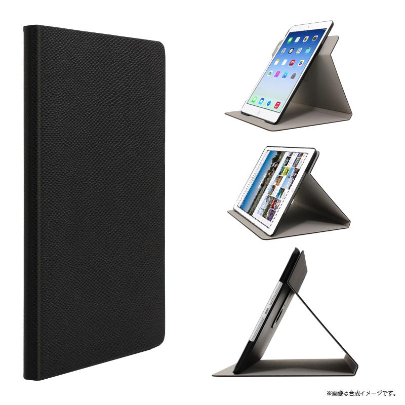 iPad Air レザー(合皮) ウルトラスリムスイブルケース ブラック
