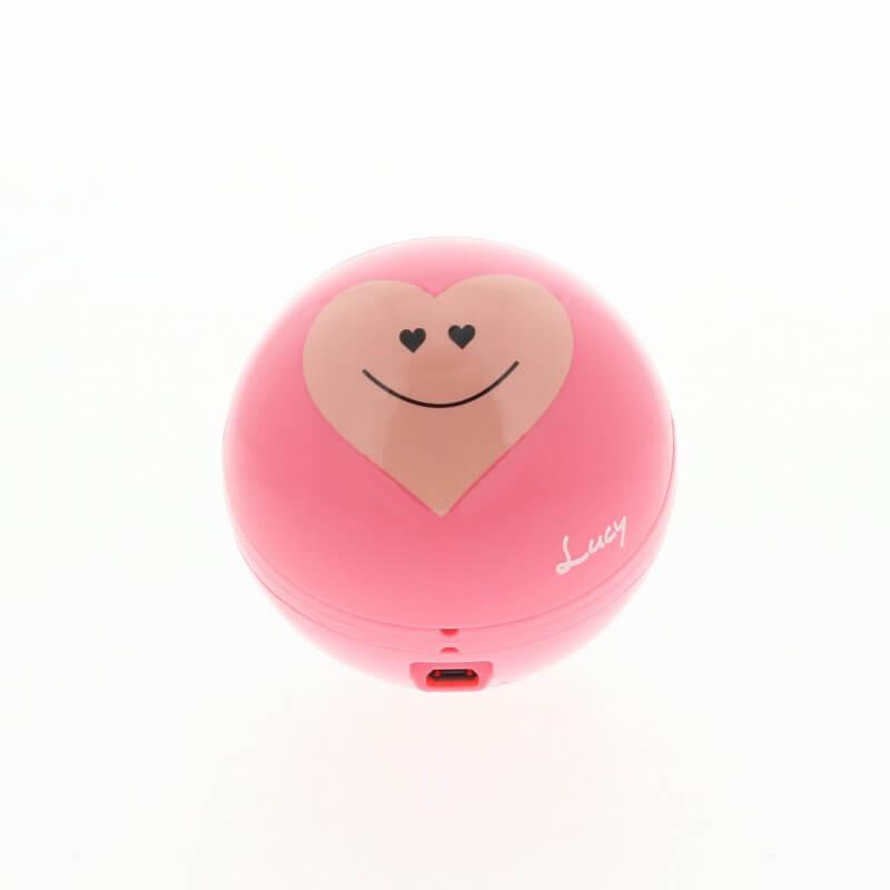 スマートフォン(汎用)【Lucy】にこにこハートスピーカー/ピンク