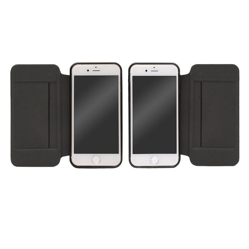 iPhone 6 Plus/6s Plus フリップ脱着型PUレザーケース「2WAY」 ブラック