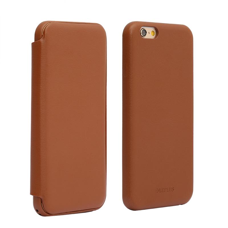 iPhone 6 Plus/6s Plus フリップ脱着型PUレザーケース「2WAY」 ブラウン