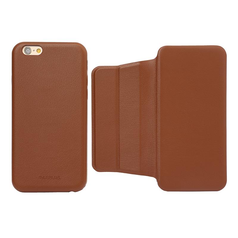 iPhone 6/6s フリップ脱着型PUレザーケース「2WAY」 ブラウン