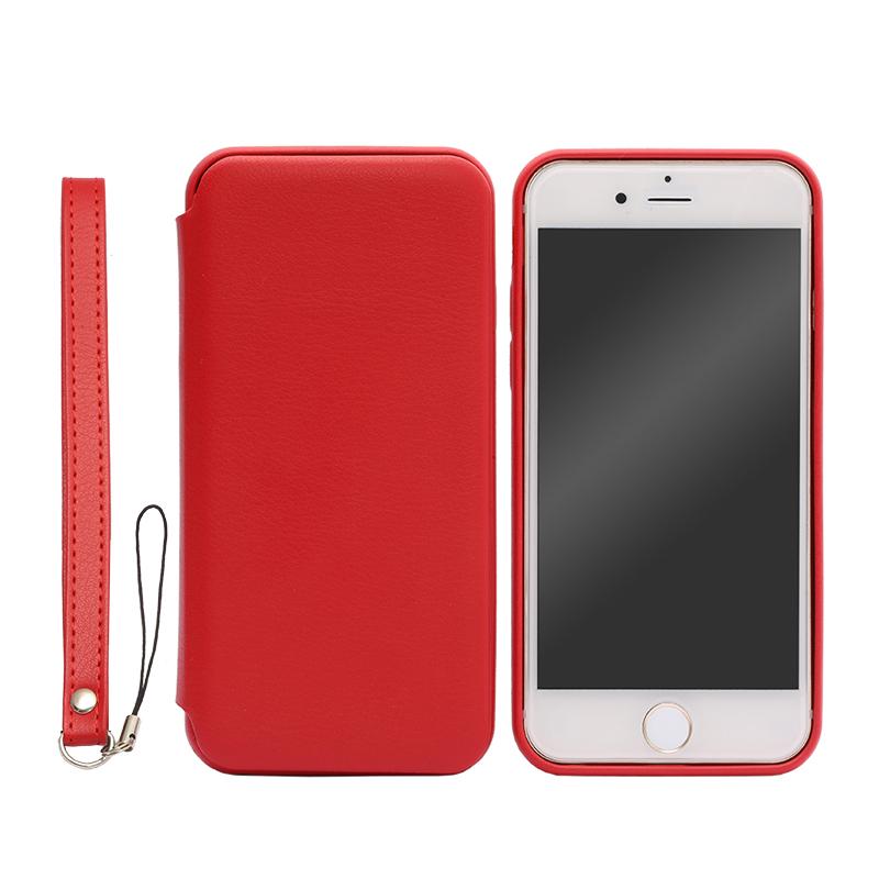 iPhone 6/6s フリップ脱着型PUレザーケース「2WAY」 レッド