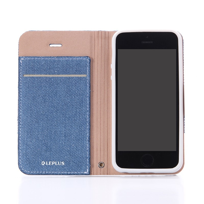 iPhone SE/5S/5 薄型ファブリックデザインケース 「PRIME Fabric」 デニム柄(B)