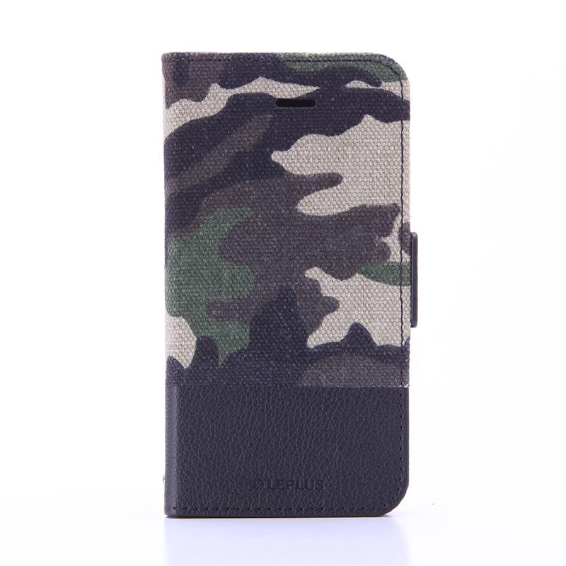iPhone SE/5S/5 薄型ファブリックデザインケース 「PRIME Fabric」 カモフラージュ柄(A)